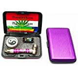 Moksha Bongs Presents Aluminum Smoking Pipe Combo! Get 3.5 Inch Long 1 Pc Smoking Pipe, 1 Set Of Metal Screen, 1 Pc Of Herb Storage Box And 3 Pcs Of Pipe Cleaner- 1 Set (Assorted Colors) …