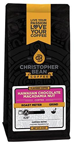 Christopher Bean Coffee Flavored Ground Coffee, Hawaiian Chocolate Macadamia Nut, 12 Ounce 51yJDvdI 2ByL