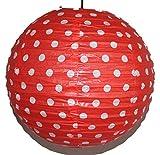 AAF Nommel®, Lampion 1 Stk. Papier, rot mit weissen Punkten, Asia-Art-Factory, rund Ø 40 cm, Nr. 720