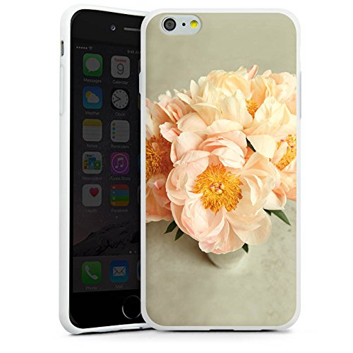 Apple iPhone X Silikon Hülle Case Schutzhülle Blumen Gelb Blüte Silikon Case weiß