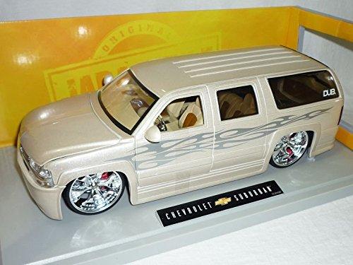 Chevrolet Chevy Suburban Weiss Tuning 1/18 Jada Modellauto Modell Auto SondeRangebot
