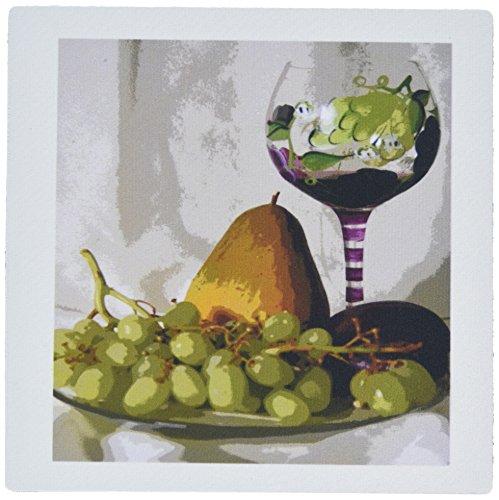 3drose LLC 20,3x 20,3x 0,6cm Mouse Pad, gerahmt Weinkelch mit Fruit Gemälde (MP _ 47919_ 1)
