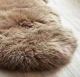 Yukon International Lammfell Schaffell-Teppich, Naturform (Mokka)