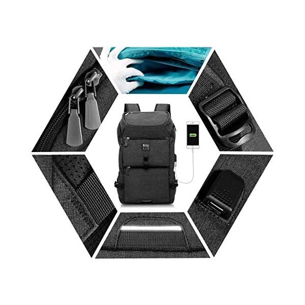 51yJGqIwAIL. SS600  - TOUBKAL - Mochila de alta calidad EXTRA FUERTE - Para PORTATIL hasta 15'' - Buena capacidad (26L) - mochila USB…