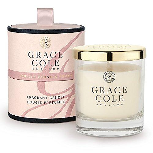 Vanille Blush et pivoine Bougie 200 g par Grace Cole