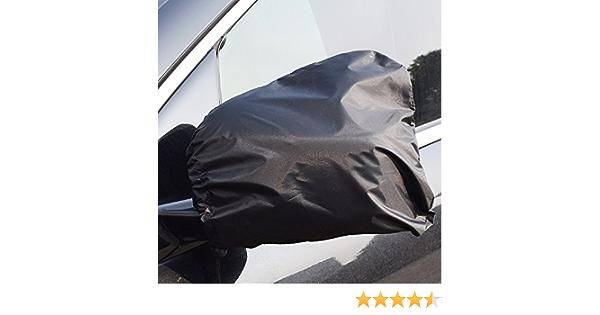 Honcenmax Auto Seitenspiegelabdeckung Auto Außenansicht Rückspiegel Abdeckungen Universal 13 X 11 Für Autos Suv Pickup Truck Schnee Eis Und Frost Schwarz Auto