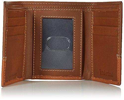 Timberland Men s Hunter Color-Block Trifold Wallet - Brown -