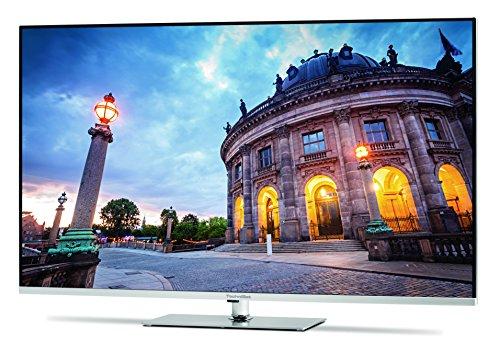 TechniSat TECHNIMEDIA UHD+ 55 139,7 cm (55 Zoll) Fernseher mit dreifachem Twin-Tuner, Smart-TV, 3D, silber-metallic [Energieklasse - Smart 55 Tv 3d