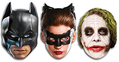 JOKER, Batman und Catwoman-The Dark Knight Charakter Face Maske Set (Knight The Joker Dark Maske)