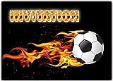 football foot Lot de 12 cartes en francais d'invitation pour un Anniversaire Enfant garçon Foot Adulte Foot sport carte invitations...