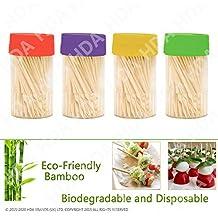 Madera de Bambú Palillos De Cóctel para novedad fiesta Bebidas Preperation Buffer para aperitivos sticks-ideal Fuente de fiesta