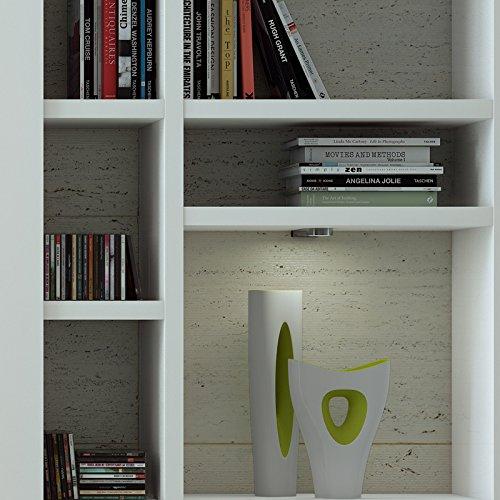 Wohnwand Bücherregal CD DVD Regal TOLEO238 Hochglanz weiß - 3