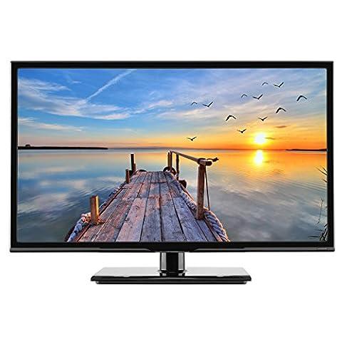 "HKC 24C2NB 24"" (60.5cm) LED TV (Full HD, TRIPLE TUNER, DVB-T / T2 / C / S / S2, H.265 HEVC,CI+, Mediaplayer USB2.0) [Energie Effizienzklasse A+]"