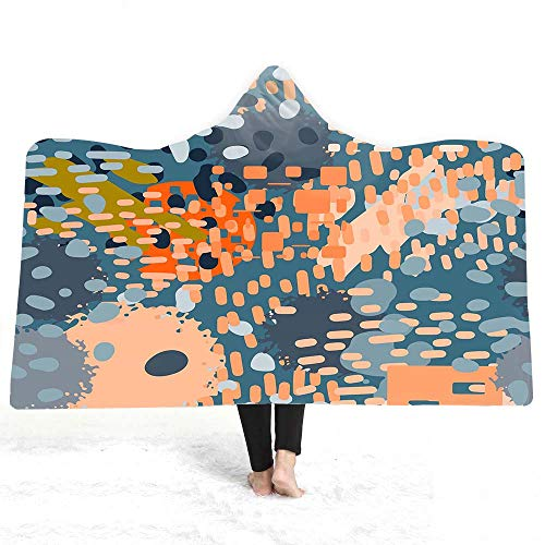 zxddzl Ocean Landscape Series Kapuzendecke für Erwachsene Sherpa Fleece Woman Throw Blanket Microfiber - Fleece-stoff Ocean