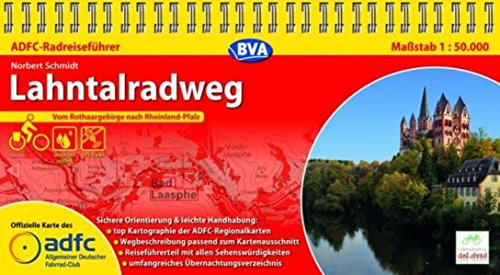 Preisvergleich Produktbild ADFC-Radreiseführer Lahntalradweg 1:50.000 praktische Spiralbindung,  reiß- und wetterfest,  GPS-Tracks Download: Vom Rothaargebirge nach Rheinland-Pfalz