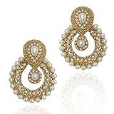 #8: Dancing Girl White Pearl Dangle & Drop Earrings For Women/Girls