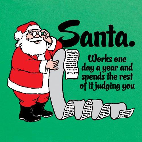 Santa's Job T-Shirt, Herren Grün
