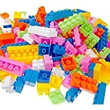 Happy GiftMart 88 Pieces Colorful DIY Mini Building Blocks Educational Kids Puzzle Construction Toy for Lego, Plastic