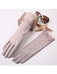 Gants de protection solaire section bras long manche UV Xia Tianlei femme conduit mince toucher de soie de glace de soie manchette
