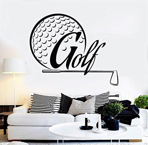 ule wandaufkleber weihnachten xxl Golfspieler Golf Design Club Golfer Zimmer Dekor Golf Player Aufkleber ()