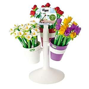 Flower shop impression sur toile motif cala tulip-pen 6380 pot-rose