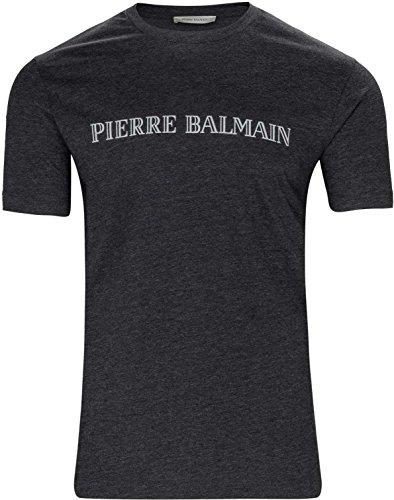 67ecfb356d Pierre Balmain Camiseta Logo Print T-Shirt, Color: Gris Oscuro, Tamaño: