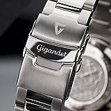 """Gigandet Herren Automatik-Armbanduhr """"Sea Ground"""" Analog Edelstahlarmband Grün Silber G2-008 - 7"""