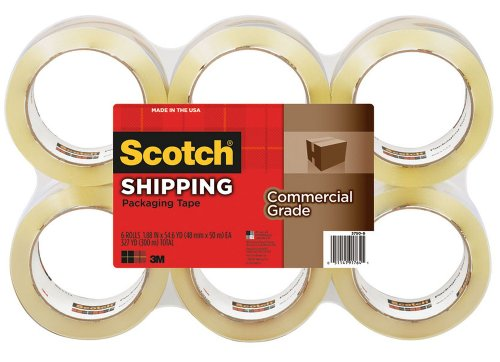 PACKING TAPE  REFILL COMMERCIAL GRADE  6/PK  CLEAR  SOLD AS 1 PACKAGE