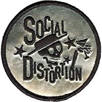 4.5 x 4 SOCIAL DISTORTION Verzerrung Skelly /& Logo Sticker Aufkleber Officially Licensed Products Classic Rock Artwork Skelly and Logo Long Lasting for Any Surface Sticker AufkleberDECAL