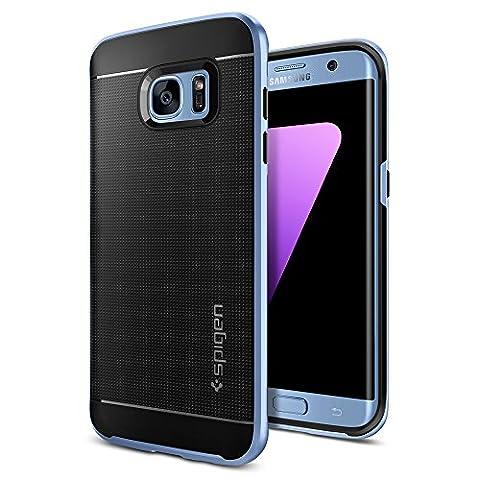 Coque Galaxy S7 Edge, Spigen [Neo Hybrid] PREMIUM BUMPER [Bleu] Bumper Style Premium Case Slim Fit Dual Layer Protective Coque Samsung Galaxy S7 Edge (2016) - (556CS21028)