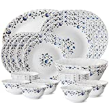 #8: Larah by Borosil Helena Opalware Dinner Set, 27-Pieces, White