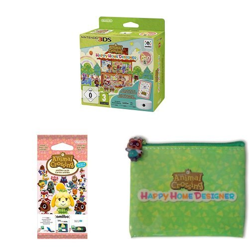 Pack Animal Crossing : Happy Home Designer + Lecteur NFC + paquet de 3 cartes + pochette