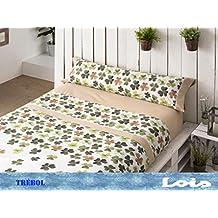 Style Lois Trebol Juego de Sábanas, Algodón-Poliéster, Beige, 90x205x0.5 cm