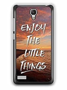 YuBingo Enjoy The Little Things Designer Mobile Case Back Cover for Xiaomi Redmi Note