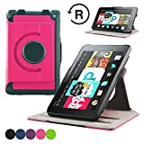ACcover FIRE HD 6 Tablet Case ? PU Leather 360 Degree Rotatable Stand for Kindle Fire HD 6-Inch Tablet 2014 Version With Built-In Magnet for Sleep/Wake Function