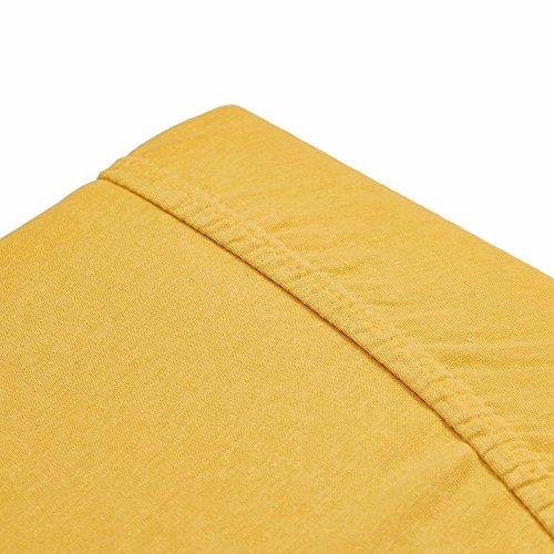 Dreamhome24 Dicht Gewebte Baumwolle Jersey Spannbettlaken Bettlaken Spannbetttuch Laken Alle Größen