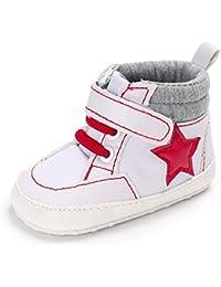 YanHoo Zapatos de bebé de Fondo Suave para niños pequeños Bebé recién Nacido Suela Blanda Cuna