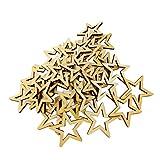 Sharplace Holz Scheiben Tischdekoration Birken-Sterne Deko Sterne Holz Dekosterne Holzsterne Stern Streuteile Basteln Xmas Weihnachtssterne - Natürliche Farbe, 30mm 50pcs