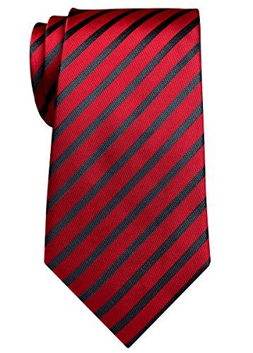 retreez-elegante-diagonal-rayas-tejido-microfibra-315-hombre-corbata-varios-colores-rojo-granate-tal