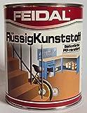 Feidal Flüssigkunststoff, zum Versiegeln und Beschichten von Betonböden, Farbton: Steingrau RAL 7030 / 5 Liter