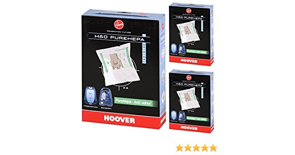 12 x Hoover Enigma Freemotion H60 Vacuum Cleaner Microfibre Dust Bags PureHEPA