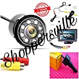Shoppersville Car Reverse Parking LED Camera with TFT Monitor, Complete Wiring and Hole Saw