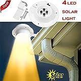 gaddrt Neue Neue 4 LED Solarbetriebene Gutter Licht Outdoor/Garten/Hof/Wand/Zaun/Pathway Lampe