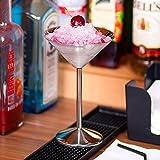 bar@drinkstuff - Juego de 4 copas de cóctel (17 cl, acero inoxidable)