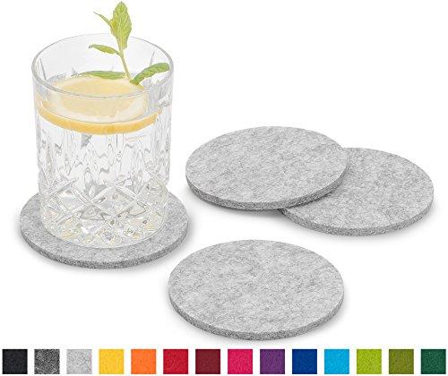 Filzuntersetzer von FILU - dekorativ, robust und hochwertig  Die wunderschönen Filzuntersetzer von FILU schmücken jeden Tisch und sorgen für sicheren Stand von Gläsern, Tassen, Vasen und Flaschen.  Die Oberfläche des Tisches wird durch die stabilen ...