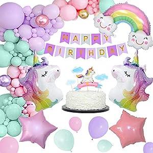 MMTX Unicornio Decoraciones Fiesta Cumpleaños,