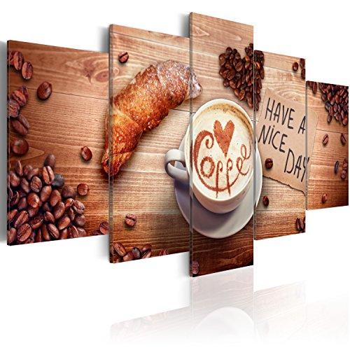 murando Quadro 100x50 cm 5 Pezzi Stampa su Tela in TNT XXL Immagini Moderni Murale Fotografia Grafica Decorazione da Parete Caffe Quadro f-A-0013-b-a
