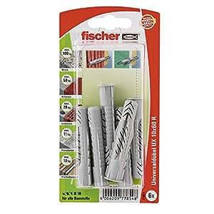 Fischer 77854 Lot de 6 Chevilles universelle UX 10 x 60 mm RK