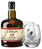 El Dorado 12 Years Old + GB mit 2 Gläsern 40% Vol. 0,7 l