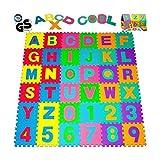 TrAdE shop Traesio- Alfombra Puzzle para niños Juego de 36Piezas Juego Alfombrilla Letras...